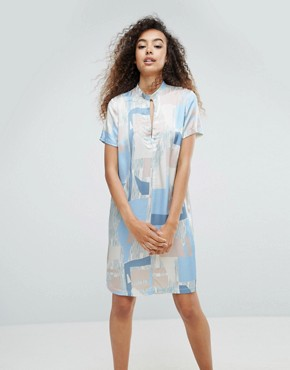 photo Printed Silky Printed Dress by MbyM, color Cassia Print - Image 1