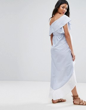photo High Low Stripe One Shoulder Dress by ASOS Maternity, color Multi - Image 2