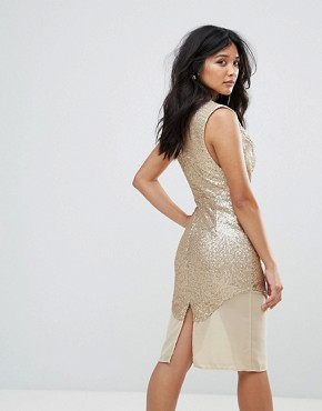 photo Metallic Dress by Glamorous, color Gold - Image 2