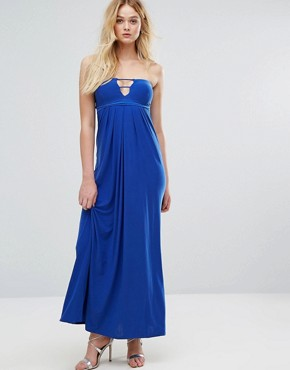 photo Bandeau Maxi Dress with Cut Out Detail by City Goddess, color Royal Blue - Image 1