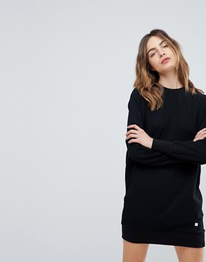 photo Cece Raglan Sleeve Sweat Dress by NYTT, color Black - Image 1