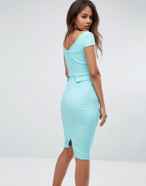 photo Pencil Midi Dress with Pocket Detail by Vesper Tall, color Spearmint - Image 2