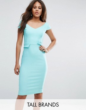 photo Pencil Midi Dress with Pocket Detail by Vesper Tall, color Spearmint - Image 1