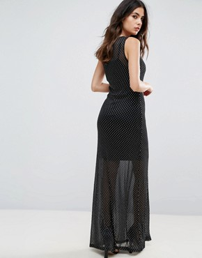 photo Celeste Sands Mesh Maxi Dress with Seperate Slip by WYLDR, color Silver - Image 2