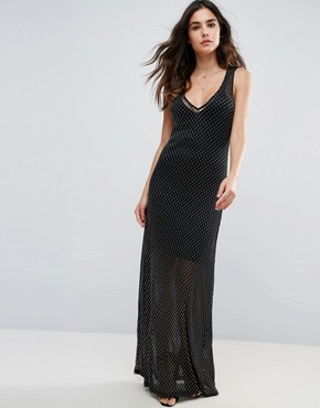 photo Celeste Sands Mesh Maxi Dress with Seperate Slip by WYLDR, color Silver - Image 1