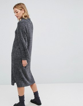 photo Knitted Midi Dress by Monki, color Grey - Image 2