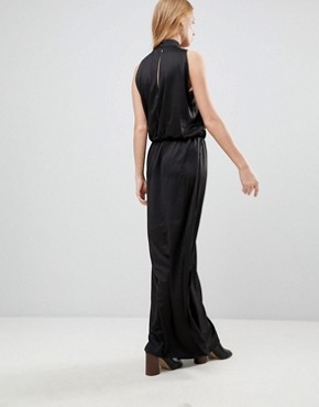 photo High Neck Maxi Dress by b.Young, color Black - Image 2