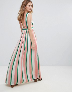 photo Striped Maxi Dress by Traffic People, color Pink/White - Image 2