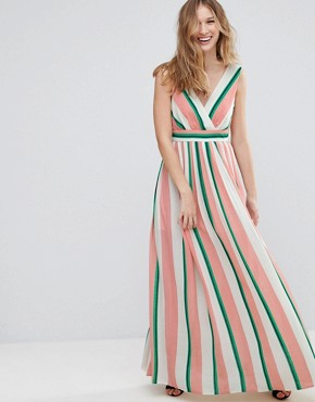 photo Striped Maxi Dress by Traffic People, color Pink/White - Image 1