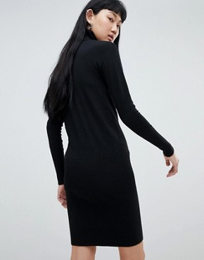 photo Roll Neck Jumper Dress by b.Young, color Black - Image 2