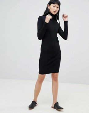 photo Roll Neck Jumper Dress by b.Young, color Black - Image 4