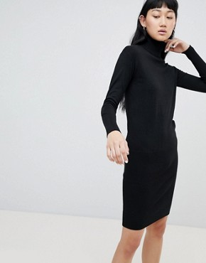 photo Roll Neck Jumper Dress by b.Young, color Black - Image 1