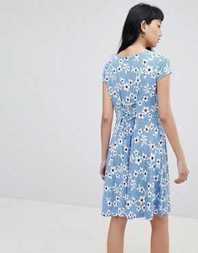 photo Floral T-Shirt Dress by b.Young, color  - Image 2