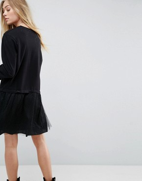 photo Leona 2 in 1 Sweater Dress by Brave Soul, color Black - Image 2