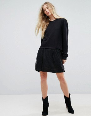 photo Leona 2 in 1 Sweater Dress by Brave Soul, color Black - Image 4