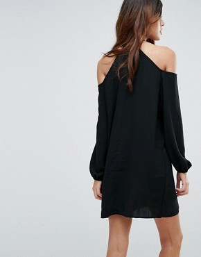 photo Cold Shoulder Tunic Dress by Vero Moda, color Black - Image 2