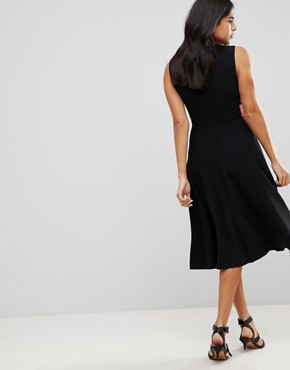 photo Midi Dress with Rose Applique by Traffic People, color Black - Image 2