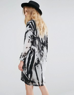 photo Limit Tunic Dress by Religion, color Parallell Print - Image 2