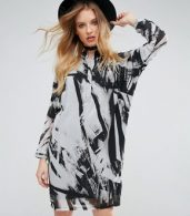 photo Limit Tunic Dress by Religion, color Parallell Print - Image 1