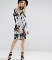 photo Limit Tunic Dress by Religion, color Parallell Print - Image 4