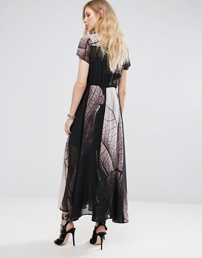 photo Succession Tie Waist Maxi Dress by Religion, color Forage Print - Image 2