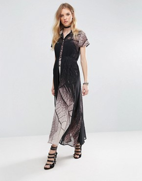 photo Succession Tie Waist Maxi Dress by Religion, color Forage Print - Image 1