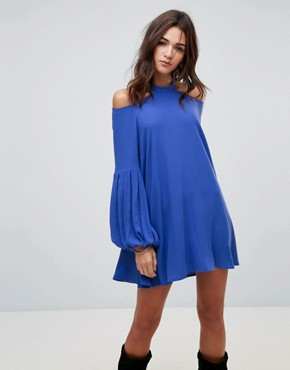 photo Drift Away Shift Dress by Free People, color Blue - Image 1