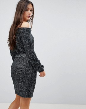 photo Bardot Jumper Dress by QED London, color Grey - Image 2