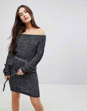 photo Bardot Jumper Dress by QED London, color Grey - Image 1