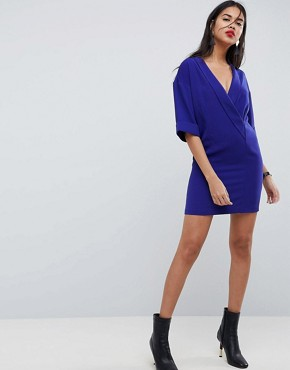 photo Mini Shift Tux Dress by ASOS, color Cobalt - Image 1