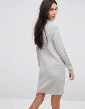 photo Cable Knit Jumper Dress by Brave Soul Tall, color Cloud Grey - Image 2