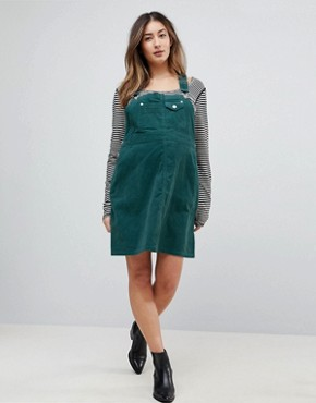 photo Maternity Cord Dungaree Dress in Emerald Green by ASOS DESIGN, color Emerald - Image 4