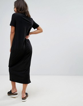 photo T-Shirt Maxi Dress by ASOS PETITE ULTIMATE, color Black - Image 2