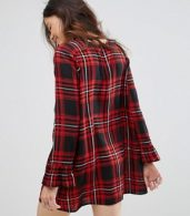 photo Spencer Check Dress with Frill Sleeve by Rock & Religion, color Check - Image 2