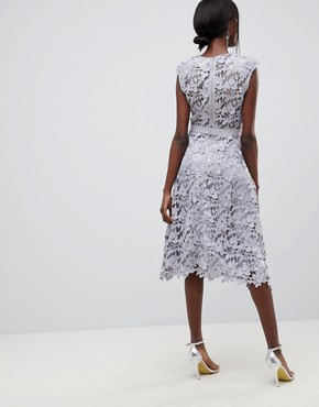 photo Lace Midi Dress by Forever Unique, color Grey - Image 2