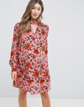 photo Floral Smock Dress by ASOS Maternity, color Multi - Image 1