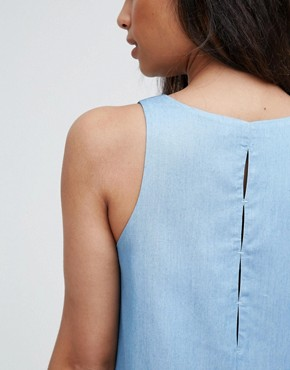 photo Chambray Swing Dress by FRNCH, color Blue Jean - Image 3