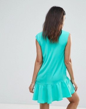 photo Pep Hem Dress by FRNCH, color Light Green - Image 2