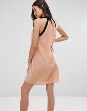 photo Zip Detail Dress by Influence, color Blush - Image 2