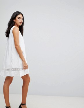 photo Embroidery Sleeveless Summer Dress by Hazel, color White - Image 2