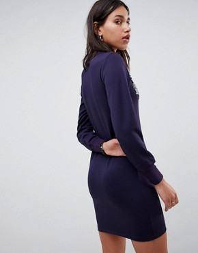 photo Scuba Sweat Dress with Embellishment by ASOS, color Navy - Image 2