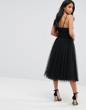 photo Tulle Dress with Sequin Upper by Little Mistress Petite, color Black - Image 2