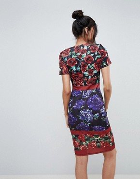 photo Floral Midi Dress by City Goddess Tall, color Print - Image 2
