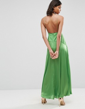 photo Cami Thigh Split Maxi Dress by ASOS ULTIMATE, color Green - Image 2