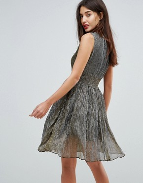 photo Metallic Skater Dress by Amy Lynn, color Gold - Image 2