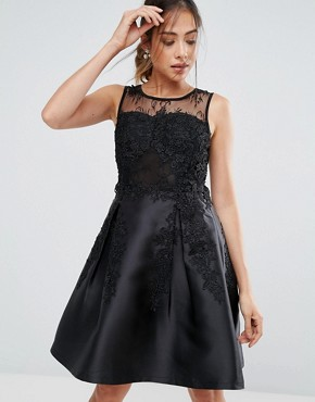 photo Prom Dress with Lace Detail by Amy Lynn, color Black - Image 1