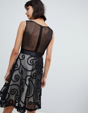 photo Prom Dress with Brocade Detail by Amy Lynn, color Black - Image 2