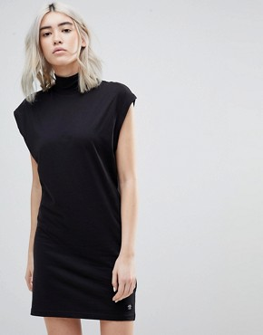 photo Cap High Neck Cocoon Dress by Cheap Monday, color Black - Image 1