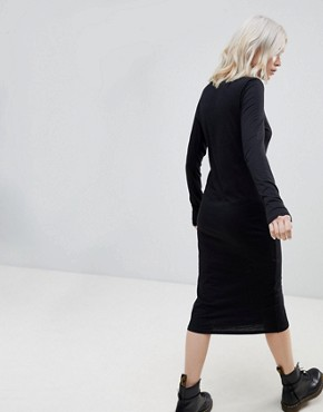 photo Late Party Now Midi Dress by Cheap Monday, color Black - Image 2