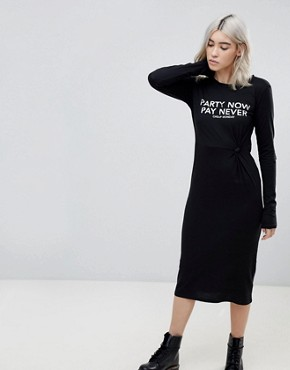 photo Late Party Now Midi Dress by Cheap Monday, color Black - Image 1